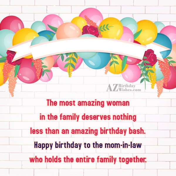 The most amazing woman in the family… - AZBirthdayWishes.com