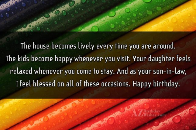 The house becomes lively every time you… - AZBirthdayWishes.com