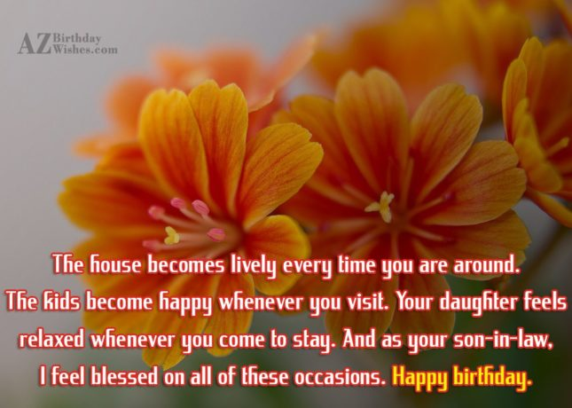 Dear mother in law, celebrate big time… - AZBirthdayWishes.com
