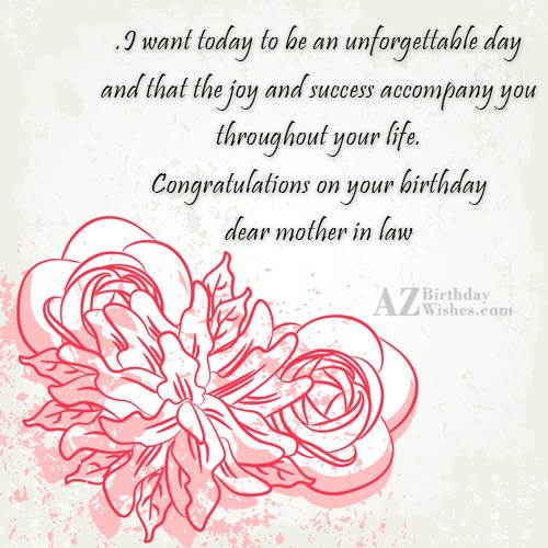 I want today to be an unforgettable… - AZBirthdayWishes.com