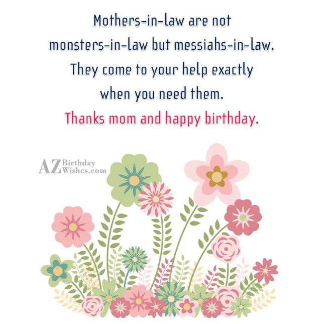 Other mothers-in-law should take lessons from you… - AZBirthdayWishes.com