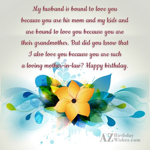My husband is bound to love you… - AZBirthdayWishes.com