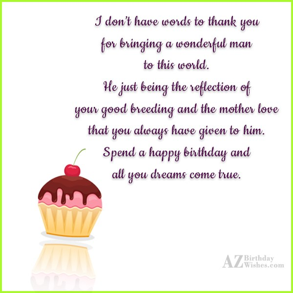 I don't have words to thank you… - AZBirthdayWishes.com