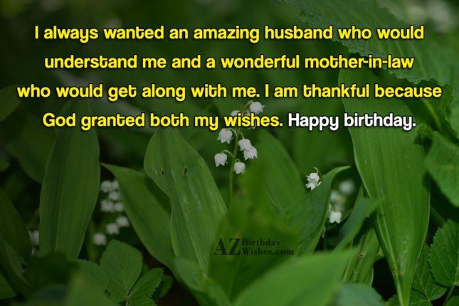 I always wanted an amazing husband who… - AZBirthdayWishes.com