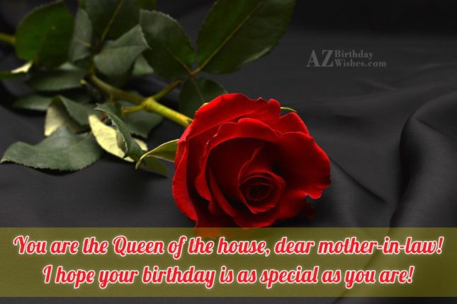 You are the Queen of the house,… - AZBirthdayWishes.com