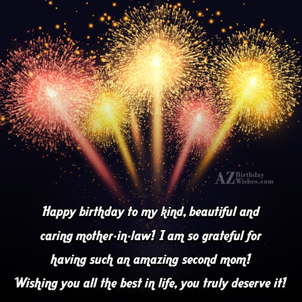 Happy birthday to my kind, beautiful and… - AZBirthdayWishes.com