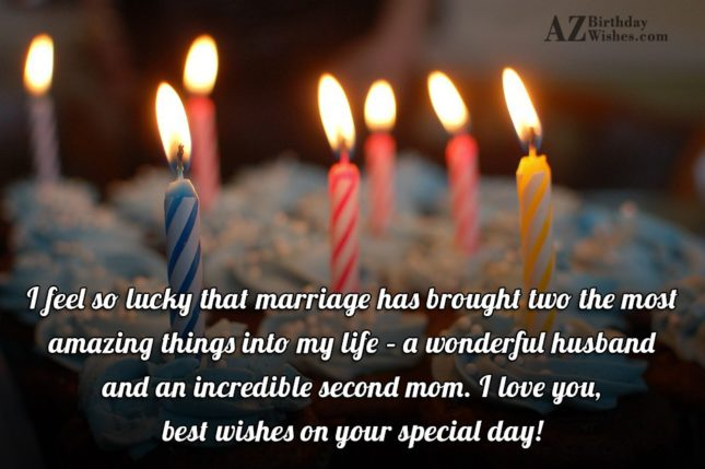 I feel so lucky that marriage has… - AZBirthdayWishes.com