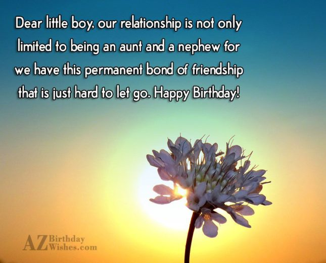 Dear little boy, our relationship is not… - AZBirthdayWishes.com