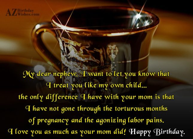 My dear nephew, I want to let… - AZBirthdayWishes.com