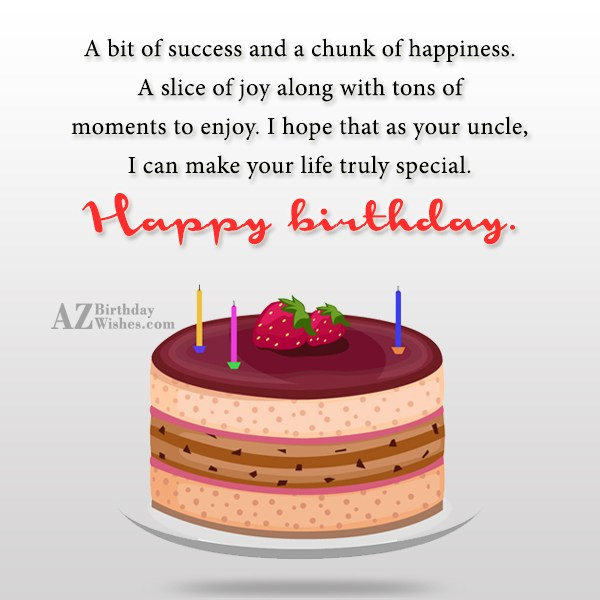 A bit of success and a chunk… - AZBirthdayWishes.com