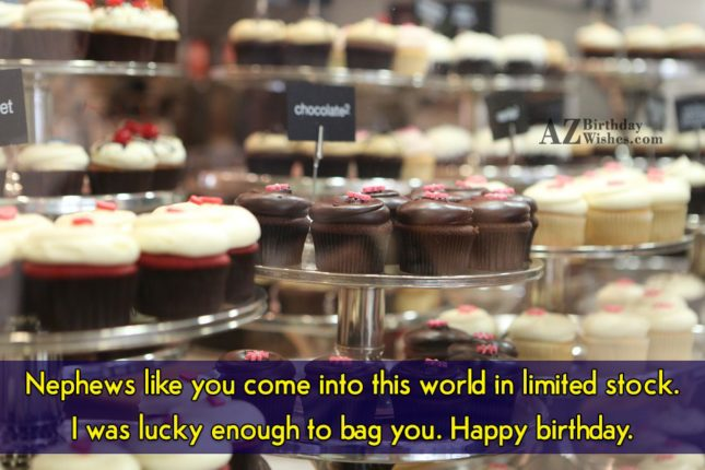 Nephews like you come into this world… - AZBirthdayWishes.com