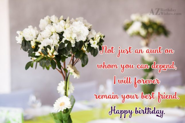 Not just an aunt on whom you… - AZBirthdayWishes.com