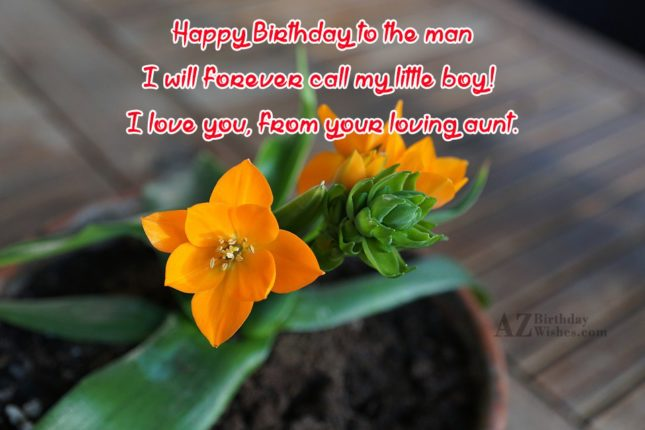 Happy Birthday to the man I will… - AZBirthdayWishes.com