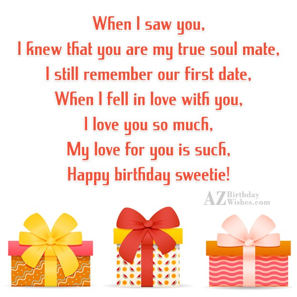 When I saw you,I knew that you… - AZBirthdayWishes.com