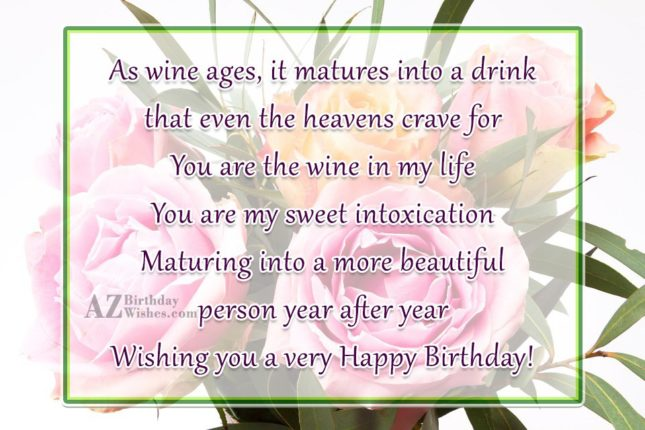 As wine ages, it matures into a… - AZBirthdayWishes.com