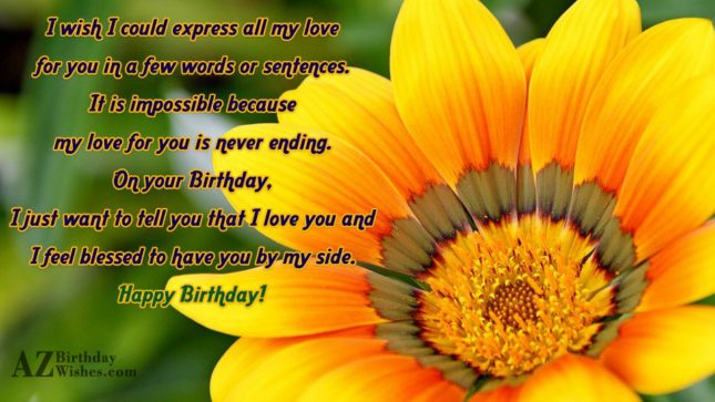 I wish I could express all my… - AZBirthdayWishes.com
