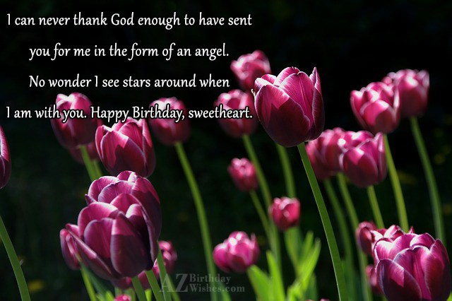 I can never thank God enough to… - AZBirthdayWishes.com