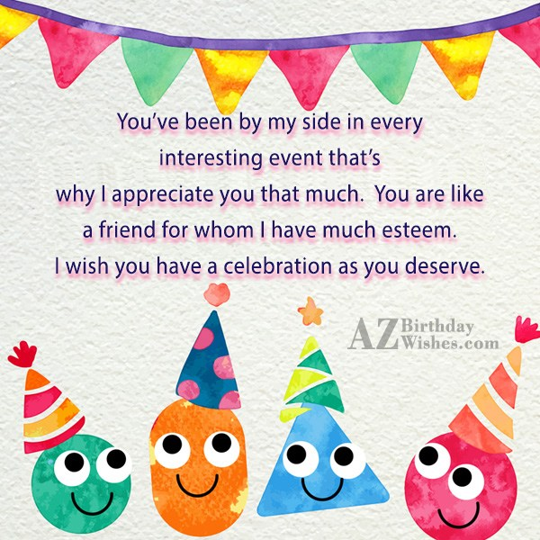 You've been by my side in every… - AZBirthdayWishes.com