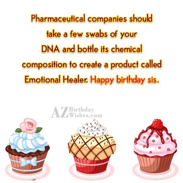 Pharmaceutical companies should take a few swabs… - AZBirthdayWishes.com