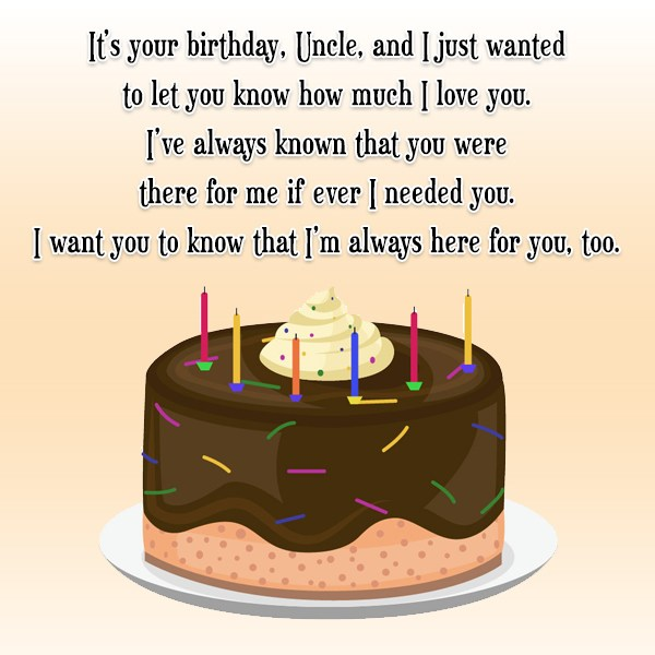 It's your birthday, Uncle, and I just… - AZBirthdayWishes.com