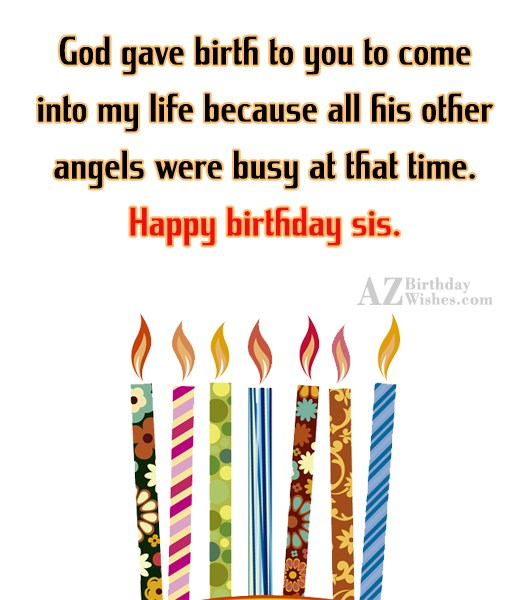 God gave birth to you to come… - AZBirthdayWishes.com