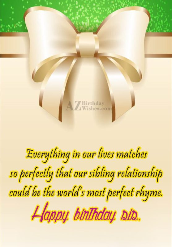 Everything in our lives matches so perfectly… - AZBirthdayWishes.com