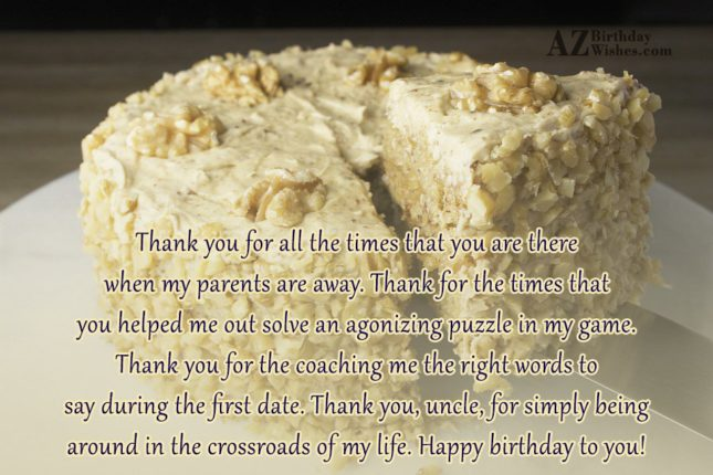 Thank you for all the times that… - AZBirthdayWishes.com