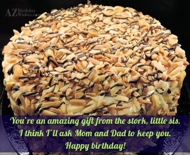 You're an amazing gift from the stork,… - AZBirthdayWishes.com