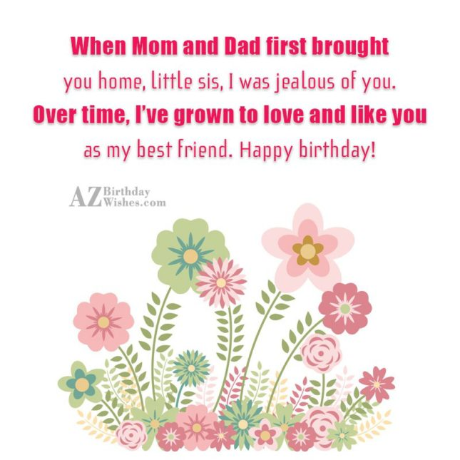 When Mom and Dad first brought you… - AZBirthdayWishes.com