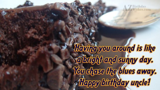 Having you around is like a bright… - AZBirthdayWishes.com