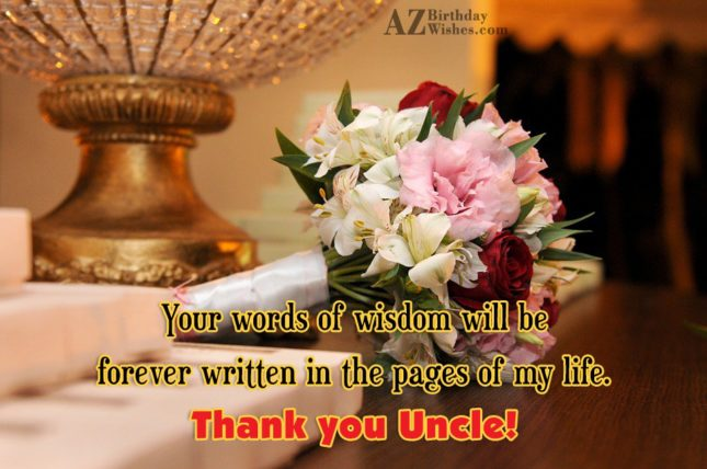 Your words of wisdom will be forever… - AZBirthdayWishes.com