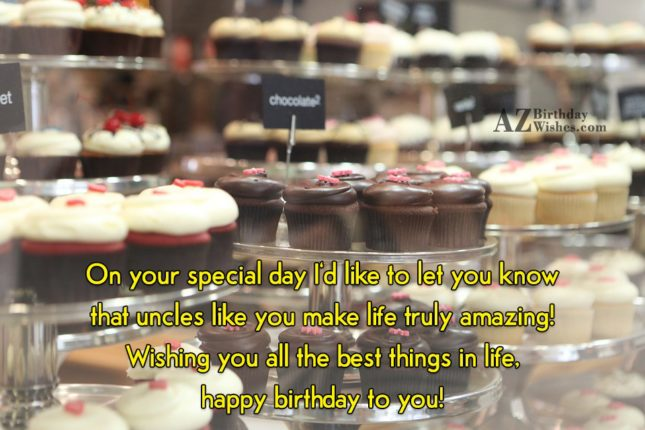 On your special day I'd like to… - AZBirthdayWishes.com