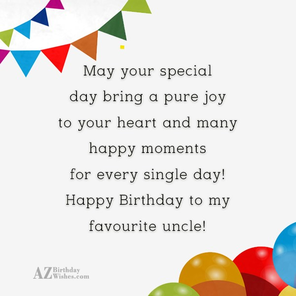 May your special day bring a pure… - AZBirthdayWishes.com