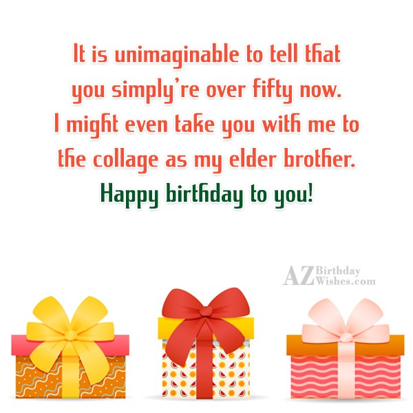 It is unimaginable to tell that you… - AZBirthdayWishes.com