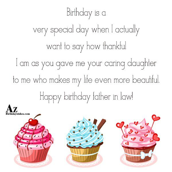 Birthday is a very special day when I actually want to say how thankful I am as you gave me your caring daughter to me who makes my life even more beautifu - AZBirthdayWishes.com