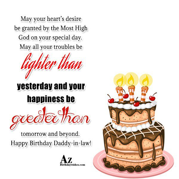 May your heart's desire be granted by the Most High God on your special day - AZBirthdayWishes.com