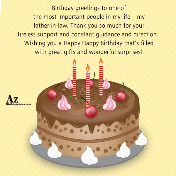 Birthday greetings to one of the most important people in my life - AZBirthdayWishes.com