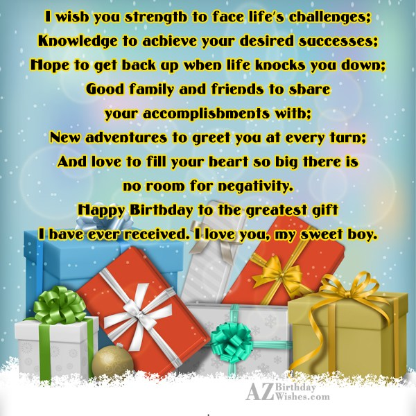 I wish you strength to face life's… - AZBirthdayWishes.com