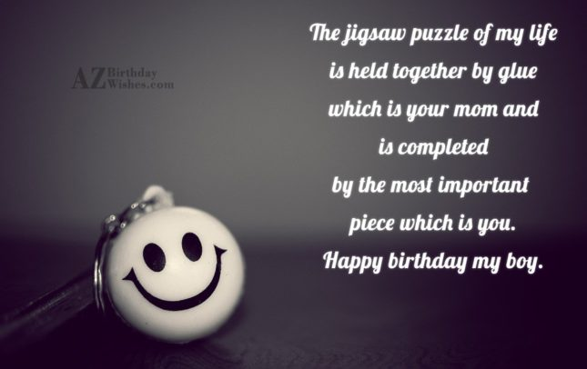The jigsaw puzzle of my life is… - AZBirthdayWishes.com