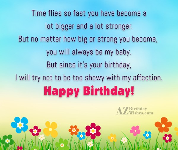 Time flies so fast you have become… - AZBirthdayWishes.com