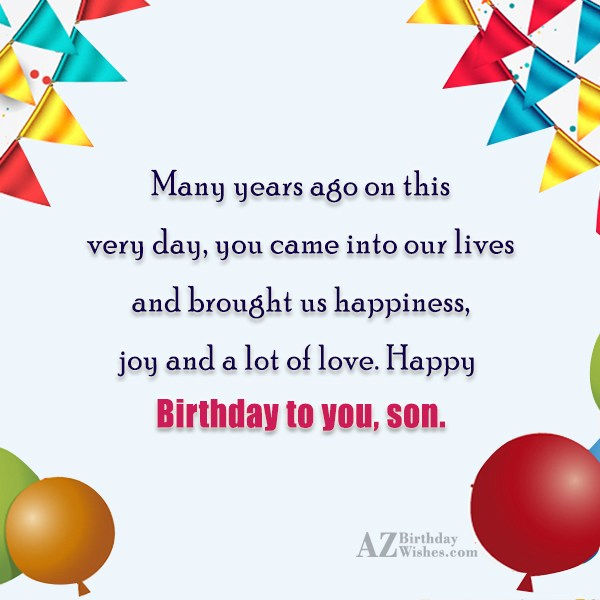 Many years ago on this very day,… - AZBirthdayWishes.com