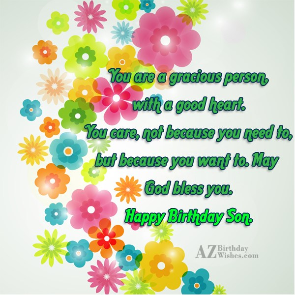 You are a gracious person, with a… - AZBirthdayWishes.com