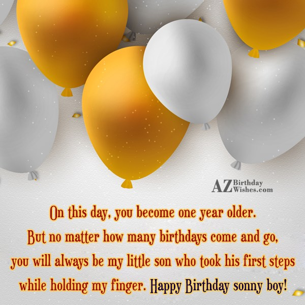 On this day, you become one year… - AZBirthdayWishes.com