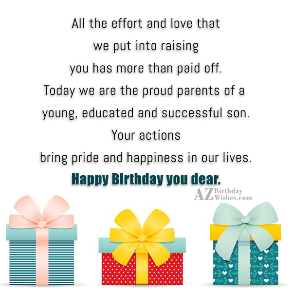 All the effort and love that we… - AZBirthdayWishes.com