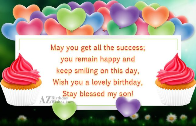 May you get all the success; you… - AZBirthdayWishes.com