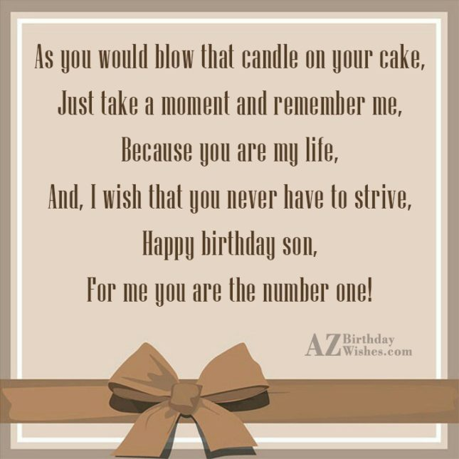 As you would blow that candle on… - AZBirthdayWishes.com
