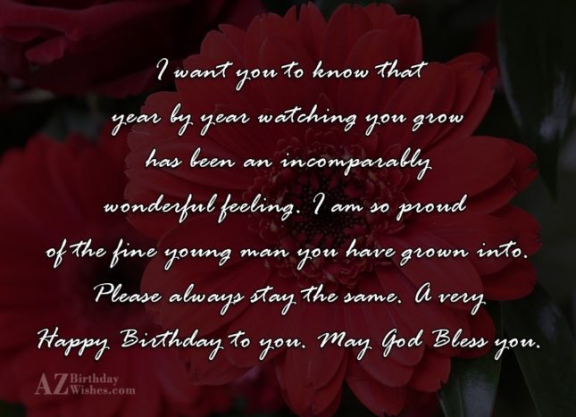 I want you to know that year… - AZBirthdayWishes.com