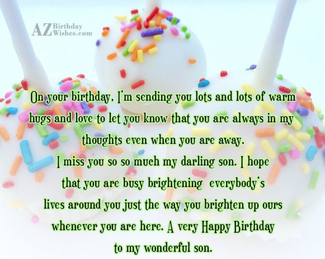 On your birthday, I'm sending you lots… - AZBirthdayWishes.com