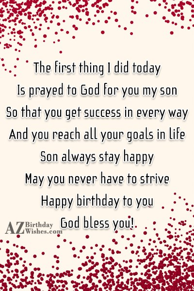 The first thing I did today Is… - AZBirthdayWishes.com