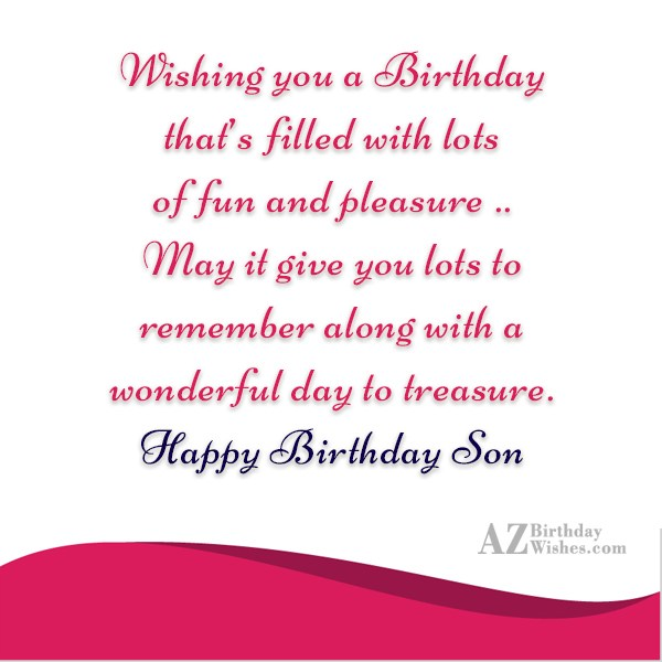 Wishing you a Birthdaythat's filled with lotsof… - AZBirthdayWishes.com